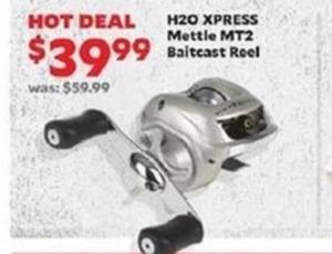 H20 Xpress Mettle MT2 Baitcast Reel