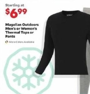 Men's Magellan Outdoors Thermal Tops or Pants