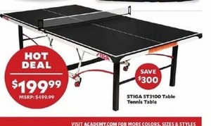 Stiga ST3100 Table Tennis Table