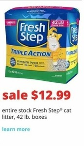 Fresh Step Cat Litter - 42 Lb. Box