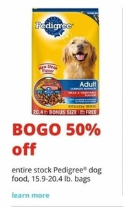 Pedigree Dog Food 15.9-20.4 Lb. Bags