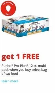 Purina Pro Plan 12 ct. Multi-Pack w/ Select Bag of Cat Food