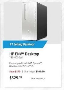 HP Envy Desktop w/ Intel Optane 8th Gen Intel Core i5 CPU