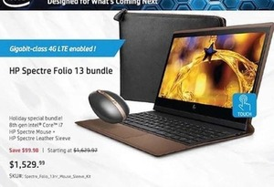 HP Spectre Folio 13 Laptop Bundle