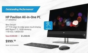 HP Pavilion All-in-One PC w/ AMD Ryzen 7 CPU