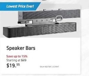 Speaker Bars