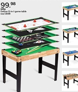 Nifty Deluxe 12 in 1 Game Table