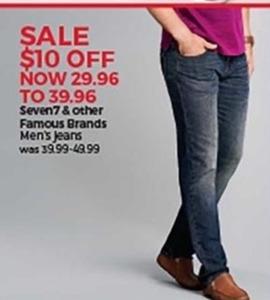 Seven7 & Famous Brands Men's Jeans