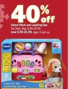 Select VTech and LeapFrog Toys