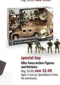 Elite Force Action Figures and Vehicles
