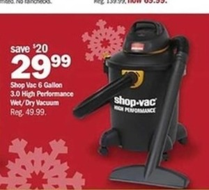 Shop Vac 6 Gallon 3.0 High Performance Wet/Dry Vacuum