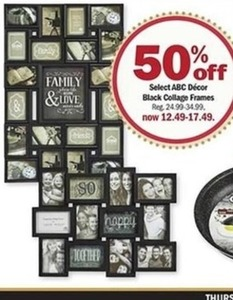 Select ABC Decor Black Collage Frames