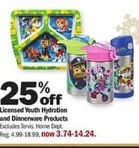 Licensed Youth Hydration and Dinnerware Products