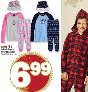 Jellifish Boys' or Girls' Sleepwear