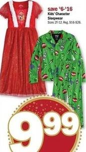 Kids' Character Sleepwear