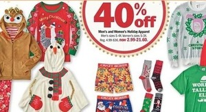 Men and Women's Holiday Apparel