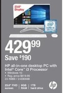 HP All-In-One Desktop PC with Intel Core i3 Processor