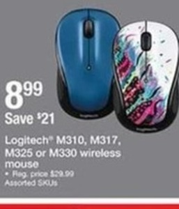 Logitech M310 M317 M325 or M330 Wireless Mouse