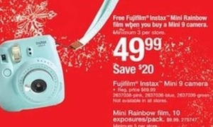 Mini Rainbow Film w/ Purchase of Fujifilm Mini 9 Camera