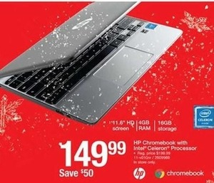 HP Chromebook w/Intel Celeron Processor