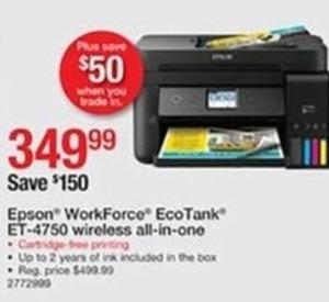 Epson WorkForce EcoTank ET-4750 Wireless All-In-One