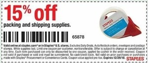 Packing and Shipping Supplies 15% off w/Coupon
