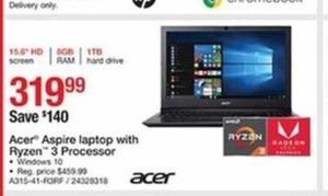 Acer Aspire Laptop with Ryzen 3 Processor