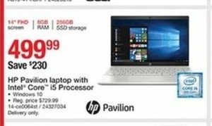 HP Pavilion Laptop with Intel Core i5 Processor