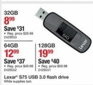 Lexar S75 USB 3.0 Flash Drive 64GB