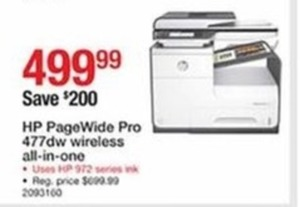 HP PageWide Pro 477dw Wireless All-in-One