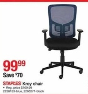 Staples Kroy Chair