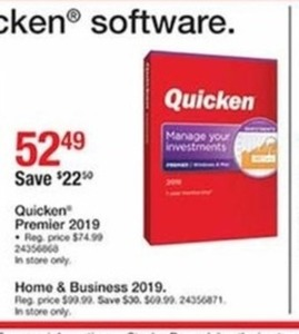 Quicken Home and Business 2019