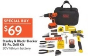 Stanley & Black+Decker 85-pc. Drill Kit