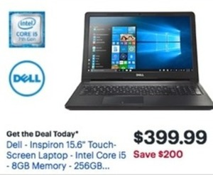 "Dell Inspiron 15.6"" Touch-Screen Laptop w/ Core i5 CPU"