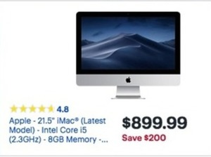 "Apple 21.5"" iMac w/ Core i5 CPU"