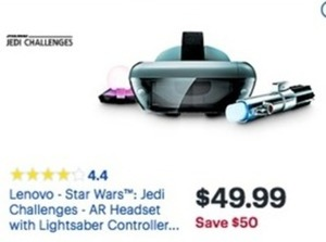 Lenovo Star Wars Jedi Challenges AR Headset
