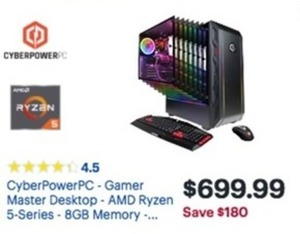 CyverPower PC Gamer Master Desktop 8GB Memory