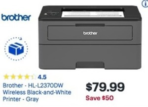Brother HL-L237ODW Wireless Black And White Printer