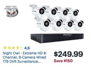 Night Owl Extreme HD 8 Camera Wired 1TB DVR Surveillance System