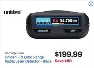 Uniden Ri Long Range Radar Laser Detector