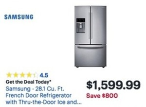 Samsung 28 Cu. Ft. French Door Refrigerator With Thru The Door Ice