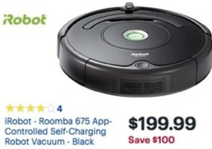 iRobot Roomba 675 App-Controlled Self-Charging Robot Vacuum
