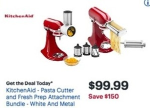 KitchenAid Pasta Cutter And Fresh Prep Attachment Bundle
