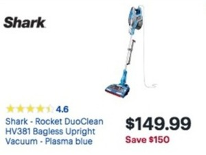 Shark Rocket DuoClean HV381 Bagless Upright Vacuum