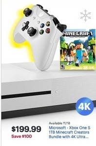 Microsoft Xbox One S 1TB Minecraft Creators Bundle