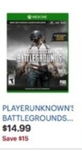 Player Unknown Battle Grounds Xbox One