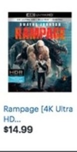 Rampage 4k Ultra HD Blu-Ray