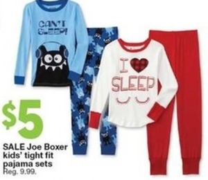 Joe Boxer Kids' Tight Fit Pajama Sets