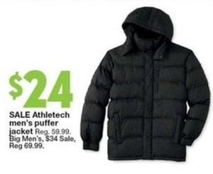 Athletech Men's Puffer Jacket