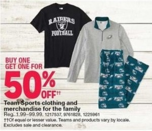 Team Sports Clothing and Merchandise for the Family